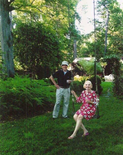 Dan and Sidney West in their Druid Hills garden in Atlanta (2013)